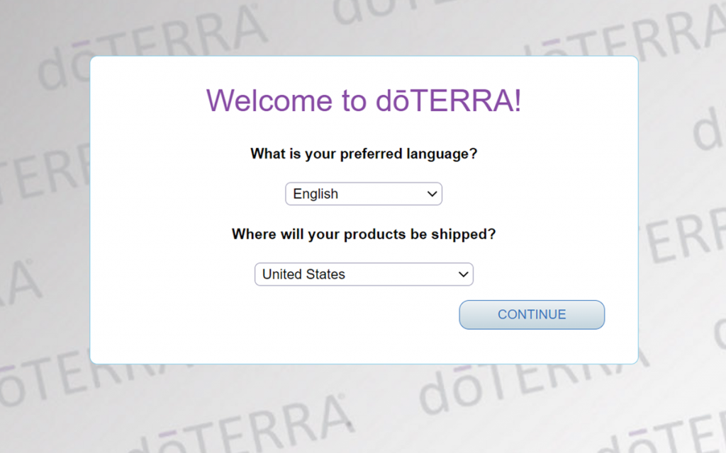 how to buy doterra essential oils at a discount wholesale price step 1